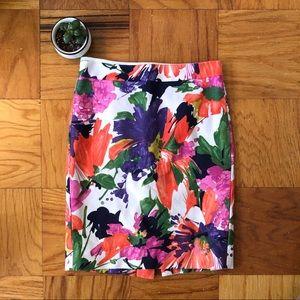 NWOT J.Crew Floral Pencil Skirt, Lined, Size 0